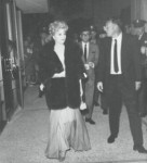 Lucille Ball walking down the red carpet.