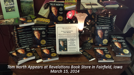 TomNorthBookDisplay-Revelations-Fairfield, Iowa